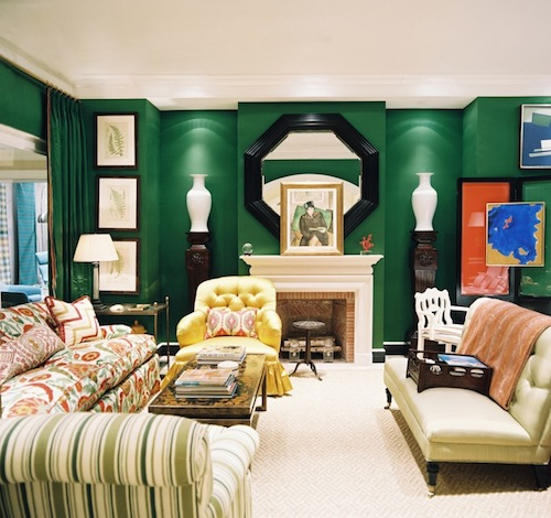 Emerald Green Living Room Walls