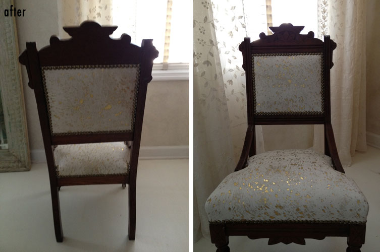 Vintage Hide Upholstered Chair