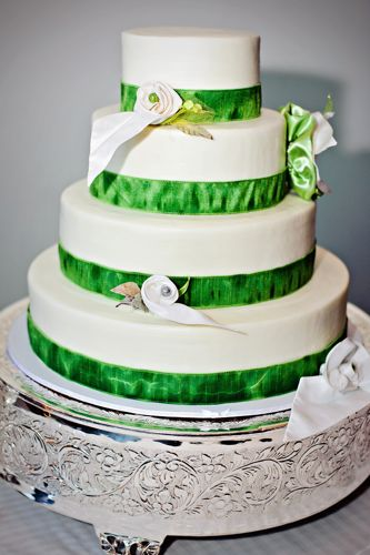 Green And White Wedding Cake Jolene Smith Interiors