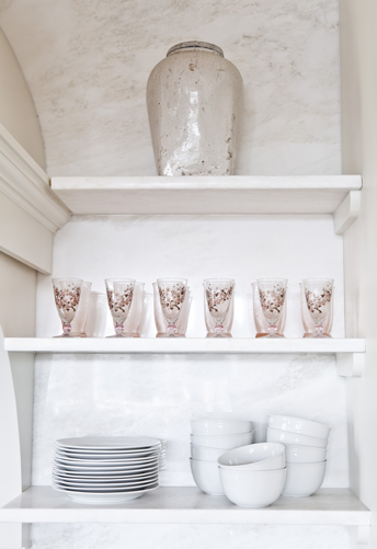 Pink and White Dishes