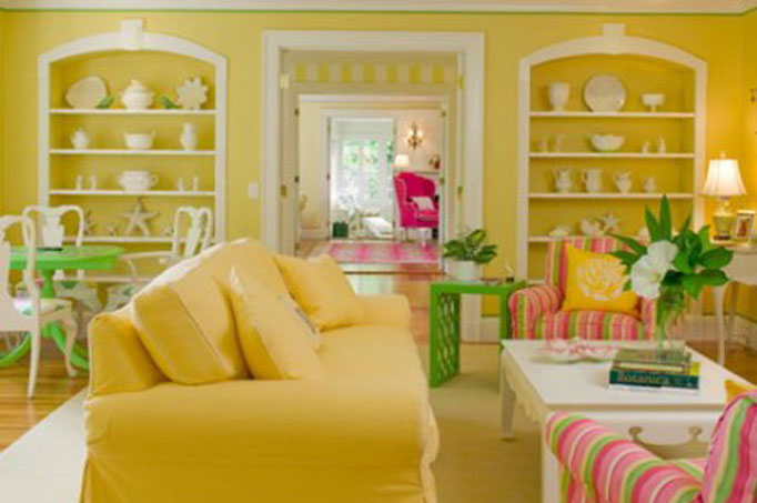 Yellow living room jolene smith interiors for Living room yellow color